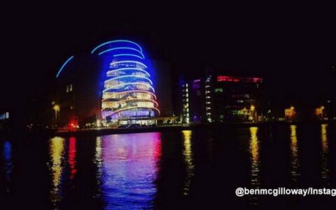 Le Convention Centre Dublin aux couleurs de la France - benmcgilloway - Instagram