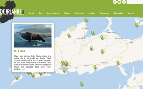 Carte interactive de Guide Irlande.com