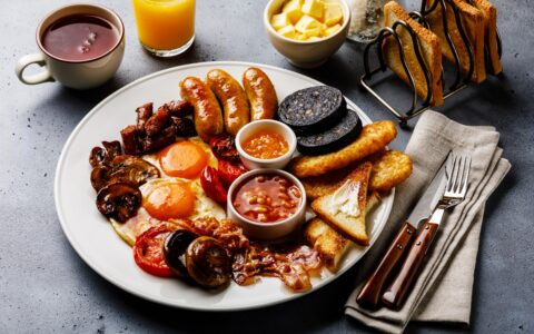 Un irish breakfast traditionnel en Irlande