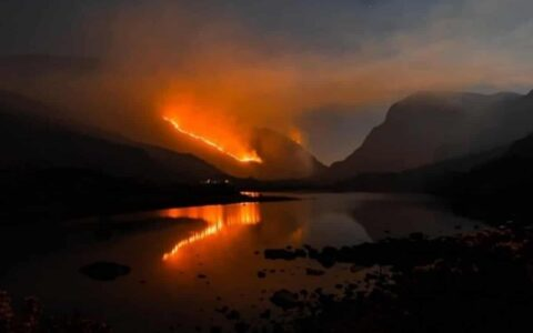 Le Parc National de Killarney a connu un terrible incendie - Dave Ryan & Cathal O' Connor (Twitter)